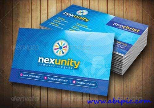 دانلود طرح وکتور کارت ویزیت شماره 85 Nexunity Corporate Business Card