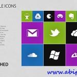 دانلود طرح لایه باز آیکون های با طرح ویندوز 8 METRO Styled Icons PSD