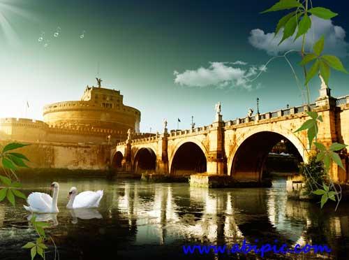 دانلود سورس لایه باز یک قلعه رومی PSD source - Rome marvelous castle
