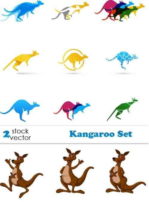 دانلود وکتور کانگرو در انواع مختلف Vectors - Kangaroo