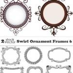 دانلو وکتور فریم و حلقه شماره 8 Vectors – Swirl Ornament Frames