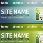 هدر لایه باز سایت با نویگیشن و سرچ Website Headers – Navigation & Search