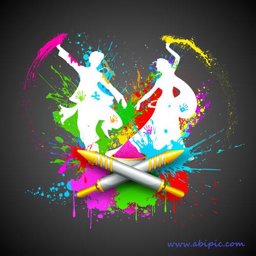 دانلود وکتور پس زمینه با طرح رقص محلی و شمشیر Backgrounds Vector