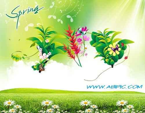 دانلود سورس لایه باز فتوشاپ بهار PSD Source - Spring 2013