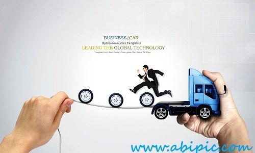 دانلود سورس لایه باز تجاری با طرح ماشین PSD Sources Business & Cars