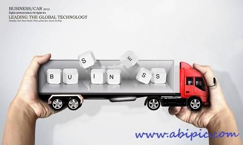 دانلود سورس لایه باز تجاری با طرح ماشین شماره 2 PSD Sources Business & Cars