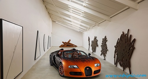 دانلود والپیپر بوگاتی  2012 Bugatti Veyron Grand Sport Bernar Venet
