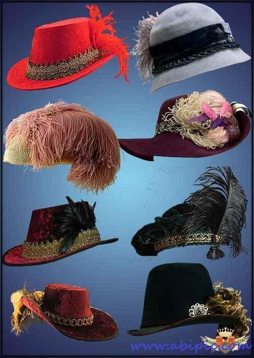 دانلود طرح کلاه با پر Hats with feathers