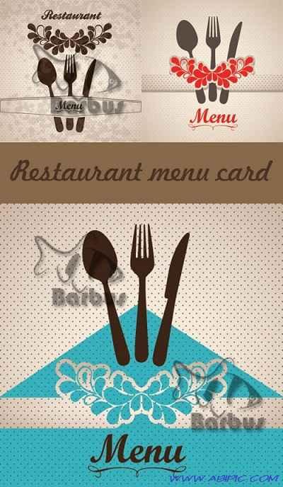 دانلود وکتور کارت منوی رستوران Restaurant menu card