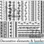 دانلود وکتور کادر و حاشیه تزئینی شماره 10 decorative elements and border Vector