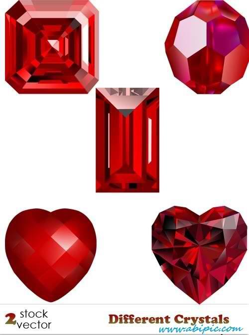 دانلود وکتور سنگ های قیمتی Different Crystals vectors