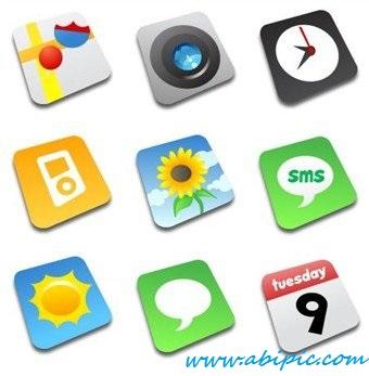 دانلود طرح های لایه باز آیکون های آیفون Comic iPhone Icon