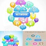 دانلود وکتور آیکون های شبکه های اجتماعی Social icons vectors