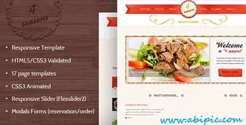 دانلود قالب آماده سایت رستوران و کافه به همراه فایل HTML5 و CSS3