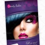 طرح لایه باز پوستر تبلیغاتی سالن زیبایی و آرایشگاه beauty salon flyer