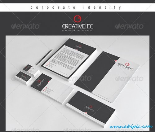 دانلود وکتور ست کامل اداری شماره ۴ Creative FC Corporate Identity Package