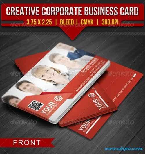 دانلود طرح لایه باز کارت ویزیت شماره 87 Creative Corporate Business Card