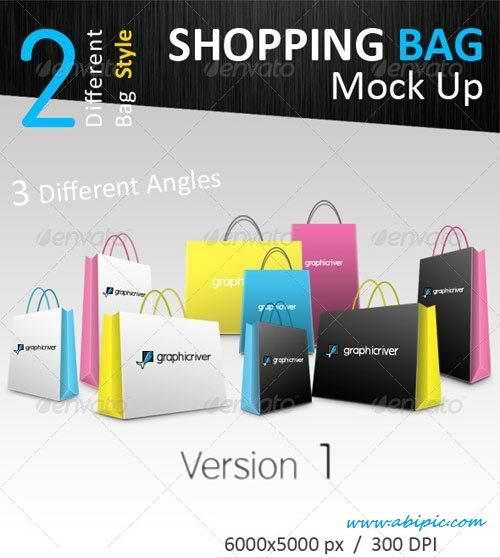 دانلود مجموعه موک آپ پاکت خرید Shopping Bag Mock-Ups Collection