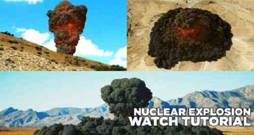 آموزش ساخت انفجار اتمی در سینما 4 بعدی Nuclear Explosion - Cinema 4D