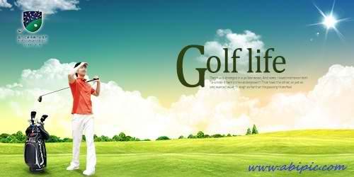 دانلود طرح لایه باز گلف PSD Source Time For Golf 5