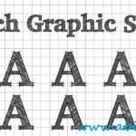 دانلود افکت متن طرح مداد برای ایلوستریتور Sketch Ai Graphic Style
