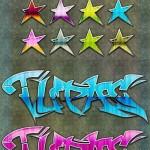 دانلود استایل گرافیتی برای فتوشاپ Glossy Graffiti Styles for Photoshop