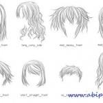 دانلود براش مدل های مختلف مو با طرح مداد Lineart Hair Brushes