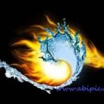 دانلود طرح لایه باز ترکیب آب و آتش Misc the water fire