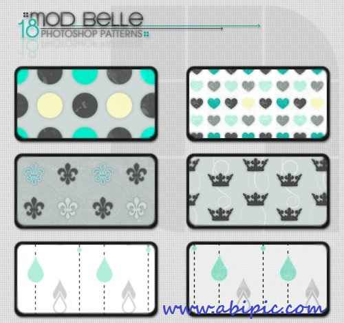 دانلود مجموعه ای از پترن ها با الگوی زیبا MoD BeLLe Pattern Set