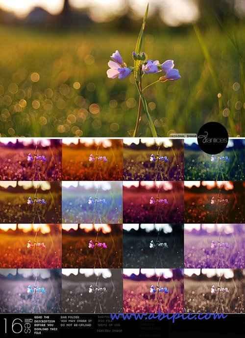 دانلود 16 افکت رنگی عکس PSD PACK Photo Effect
