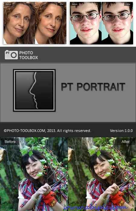 دانلود نرم افزار روتوش عکس PT Portrait 1.0.0 نسخه قابل حمل