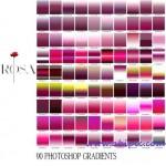 دانلود 90 گرادینت فتوشاپ در رنگ های گل رز Rosa Gradients