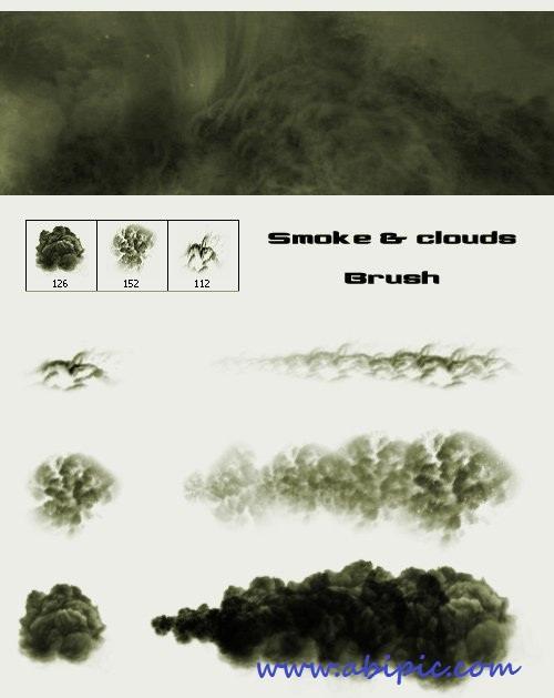 دانلود براش دود و ابر شماره 5 Smoke and Clouds Brush