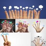 دانلود تصاویر استوک انگشتان دست با آیکون های مختلف Fingers with Icons