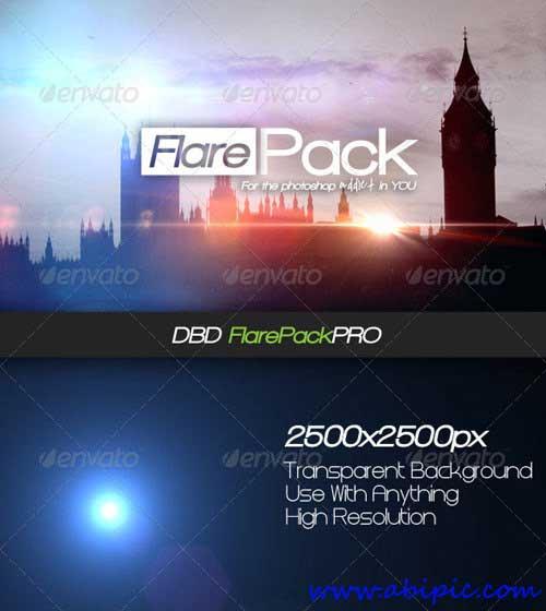 دانلود 10 لنز لایه باز نور شماره 4 High-Res Flare PSD