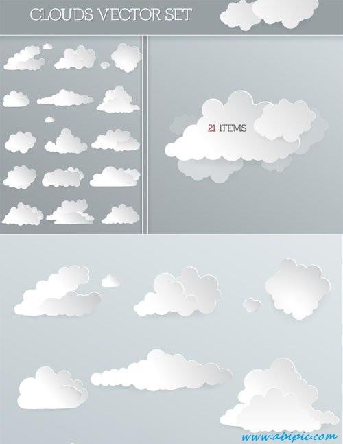 دانلود وکتور ابر Vector Clouds