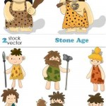 دانلود وکتور انسان های اولیه Vectors – Stone Age