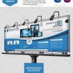 دانلود طرح لایه باز بیلبورد شماره 2 Tecnology Business Billboard