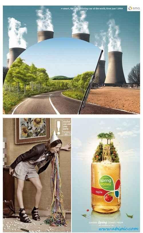 دانلود طرح تبلیغات خلاقانه شماره 10 Creative advertising