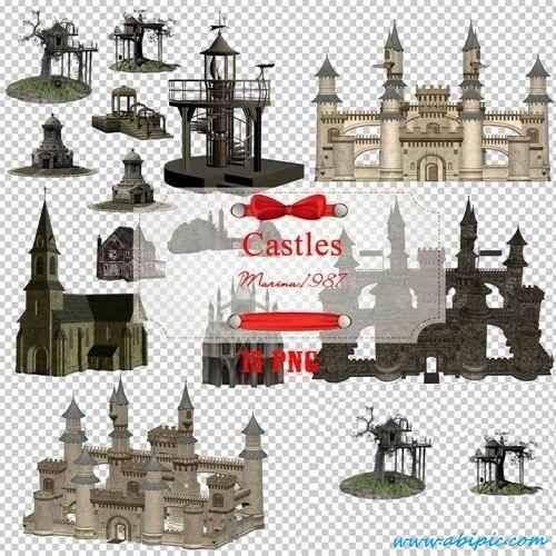 دانلود کلیپ آرت قلعه Clipart Castles