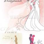 دانلود وکتور بک گراند عروسی Wedding backgrounds vector clipart