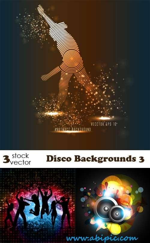 دانلود وکتور بک گراند با طرح دیسکو Vectors - Disco Backgrounds