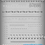 دانلود طرح لایه باز خطوط جدا کننده شماره 2 Ultimate Dividers PSD