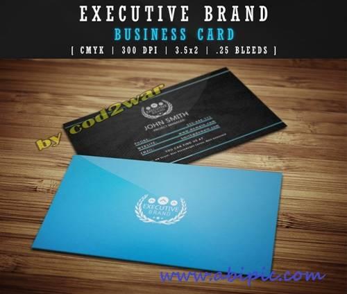 دانلود طرح لایه باز کارت ویزیت نمایش برند Executive Brand Business Card