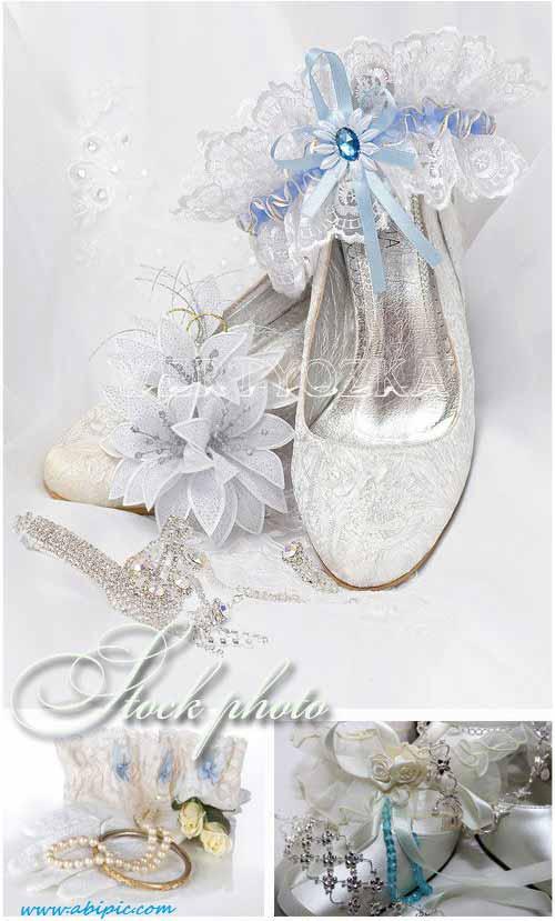 دانلود تصاویر استوک ست عروس Wedding backgrounds bride's garter wedding rings