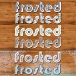 دانلود فونت یا استایل یخ و برف شماره 2 Frosted Photoshop Styles