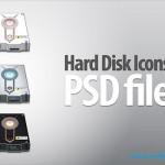 دانلود طرح لایه باز آیکون هارد دیسک Hard Disk Icons