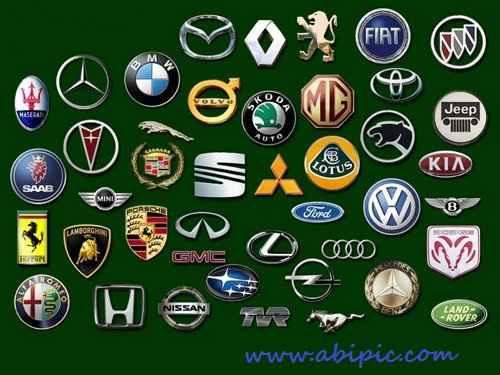 دانلود لوگو برترین شرکت های خودروسازی Cars Logo PSD