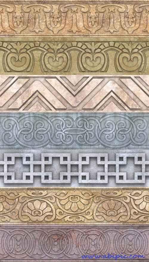 دانلود مجموعه عظیم پترن های کادر و کناره Collection of patterned borders