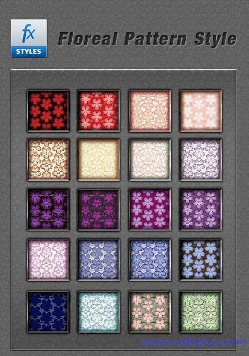 دانلود برترین پترن های با استایل گلدار فتوشاپ Floral Photoshop Pattern Style